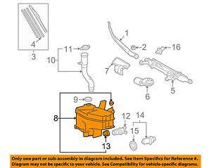vehicle repair manual 1994 lexus ls windshield wipe control lexus toyota oem ls460 wiper washer windshield fluid reservoir tank 8535550081 ebay