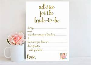Bridal shower advice cards template mini bridal for Bridal shower advice cards template
