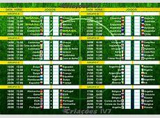 BLOG DO LUIS MEIRA Tabela da Copa do Mundo 2014 Fase de