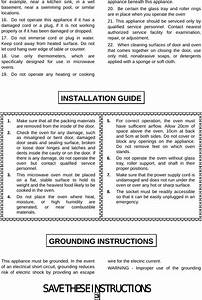 Galanz 10028002 Microwave Oven User Manual Manual For