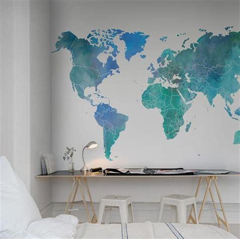 tapisserie pour bureau les 25 meilleures idées de la catégorie carte murale du