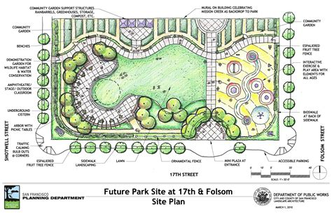 garden plan drawing the mission bioswaling the espaliers landscaping gardens and landscape architecture
