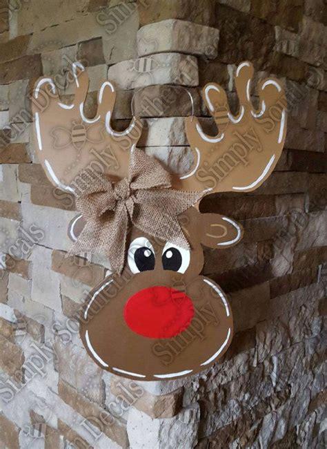 reindeer door hanger  simplysoutherndecals  etsy