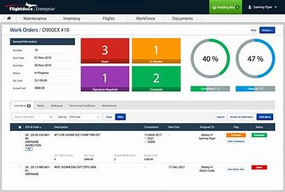 Maintenance Tracking Management Dashboard Aircraft Software