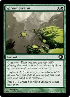 sprout swarm the magic the gathering wiki magic the gathering cards decks and more