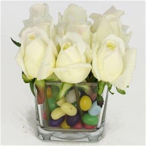 white bedside nine white bud square glass vase touch