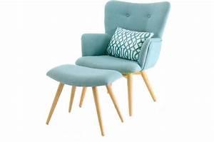 Repose Pied Scandinave : fauteuil et repose pieds scandinaves bleu matyss fauteuil design pas cher ~ Melissatoandfro.com Idées de Décoration