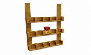 How to Make a Wooden Spice Jar Rack Startwoodworking com