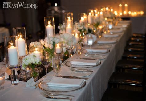 contemporary wedding filled with candles elegantwedding ca