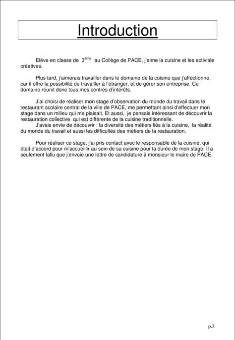 rapport de stage cuisine rapport de stage annee scolaire 2013 2014 elève de 3ème