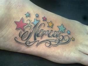 INFERNO TATTOO: tatuaje Letras y estrellas color