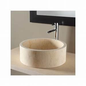 Vasque En Pierre : vasques a poser vasques pierre naturelle pas cher sur planete bain ~ Teatrodelosmanantiales.com Idées de Décoration