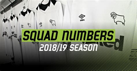 2018/19 Squad Numbers Confirmed - Blog - Derby County