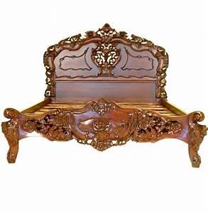 Lit Style Baroque : cadre de lit rococo en acajou massif chambord meuble de style ~ Teatrodelosmanantiales.com Idées de Décoration