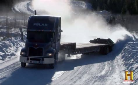 Ice Road Truckers Chaos As Drivers Struggle In Race