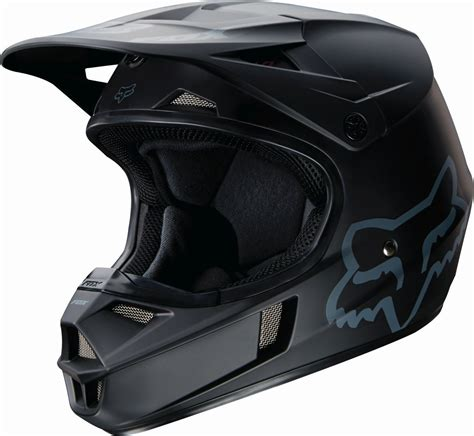 motocross helmet fox racing 2017 new kids mx v1 dirt bike matte black youth