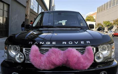 Catching A Lyft From A Pink Moustache