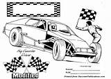 Dirt Track Race Coloring Racing Pages Clipart Printable Modified Nascar Cars Colouring Drawing Sports Sheet Print Clip Tire Tracks Bike sketch template