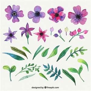 Flores moradas en estilo pintado a mano | Descargar ...