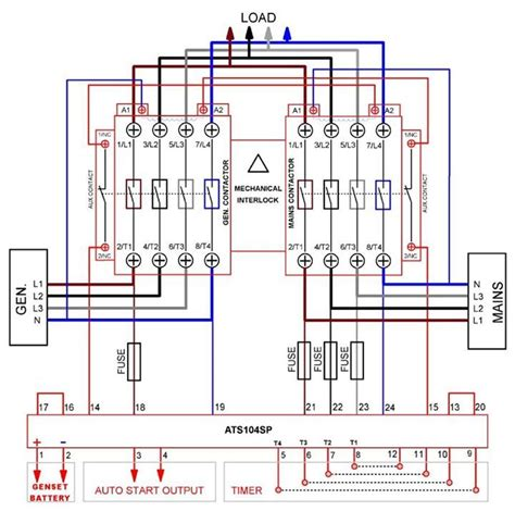 Automatic Transferred Switch Ats Circuit Diagram