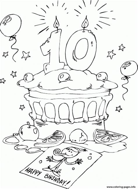 birthday cake fe coloring pages printable