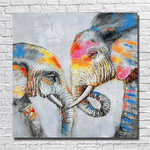 Kunst Für Zuhause : gro handel sch ne elefant wandmalerei f r zuhause dekoration handgemalte lgem lde moderne ~ Sanjose-hotels-ca.com Haus und Dekorationen