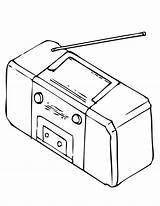 Radio Coloring Stereo Printable Worksheet Template Players Getcolorings Psychsim Answers Colorful Printables Getdrawings sketch template