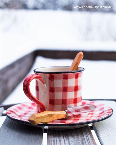 Keramik Geschirr Landhausstil by Picknick Kaffeegeschirr In Rot Weiss Kariert
