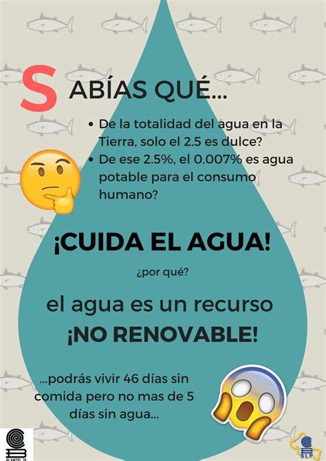 Cartel informativo sobre agua Cuidado del agua