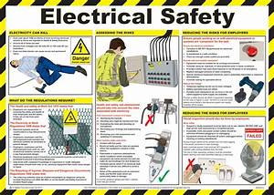 electrical safety guide poster laminated 59cm x 42cm With electrical safety in the workplace
