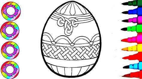 colouring giant easter egg coloring pages  kids