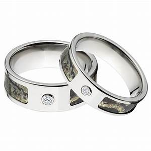 Diamonds grit camo wedding ring sets with real diamonds for Camo wedding rings sets with real diamonds