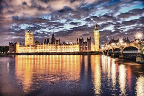 london uk schoene sonnenuntergang stockfoto colourbox