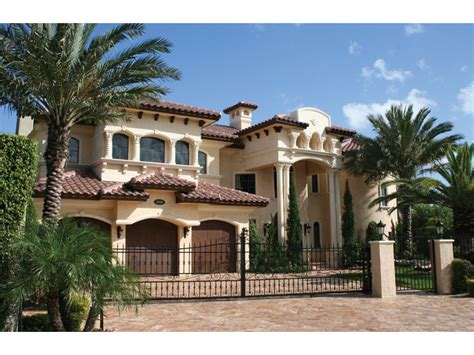 Awesome Mediterranean Style Home Plans #8 Luxury Spanish