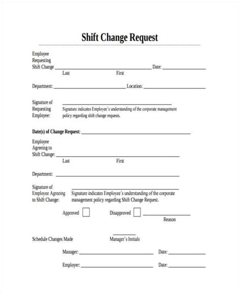 shift change request letter scrumps