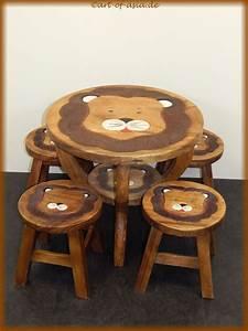 Tisch Mit Hocker : kinder tisch mit 4 hocker art of ~ Lateststills.com Haus und Dekorationen