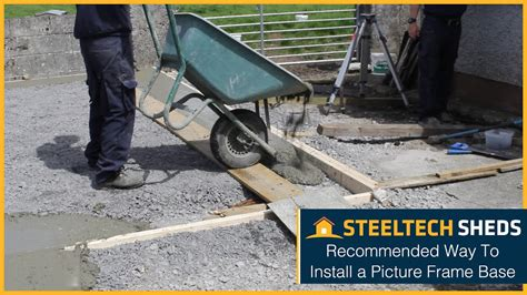 How To Lay Base For Shed by How To Install A Concrete Base For A Shed Or Garage