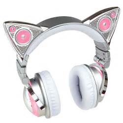 headphones with cat ears grande wireless cat ear headphones at brookstone
