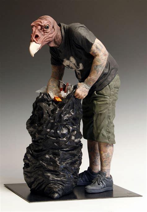 hybrid sculptures  artist alessandro gallo booooooom