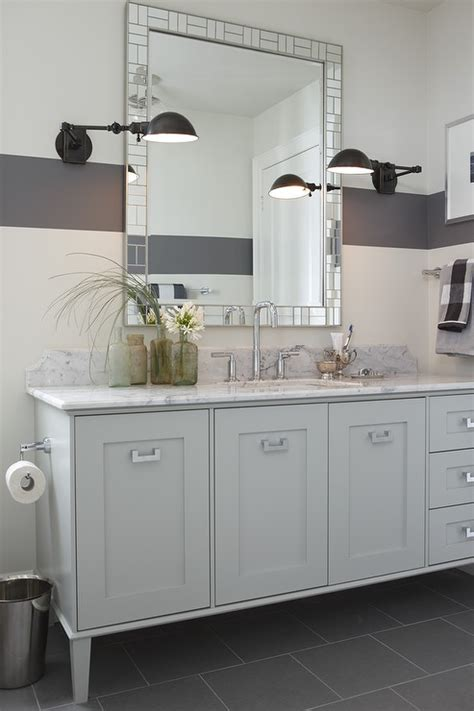 Light Gray Vanity  Contemporary  Bathroom  Para Paints