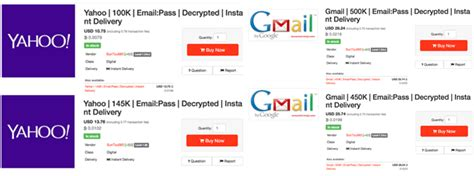 Hacker Selling Over 1 Million Decrypted Gmail And Yahoo