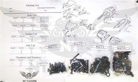 nt complete black fairing bolt for honda 2004 2005 cbr 1000rr ta13 ebay