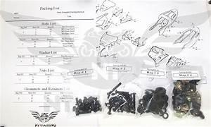 Nt Complete Black Fairing Bolt Body Screw For Honda 2004