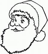Santa Claus Coloring Printable Pages Face Template Beard Colouring Christmas Outline Drawing Templates Crafts Workshop Clipart Shapes Printables Clause Sheets sketch template