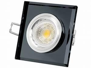 Led Einbaustrahler Glas : glas led einbaustrahler quadratische schwarz spiegelnd 6w cob led warmwei gu10 230v ~ Eleganceandgraceweddings.com Haus und Dekorationen