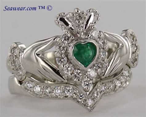 Claddagh Diamond Engagement Ring. Emerald Cut Diamond Engagement Rings. Anniversary Diamond. Elizabeth Locke Bracelet. Bracelets Beads. Knitted Rings. 14k Wedding Band. Mini Gold Chains. Moon Stone Earrings