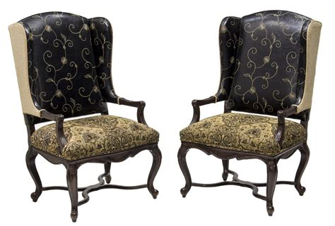 2 wingback leather fabric dining arm chairs exciting