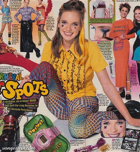 neunziger jahre mode ganz wichtig viele farben und viele muster fashion inspiration 90er jahre mode 90er mode
