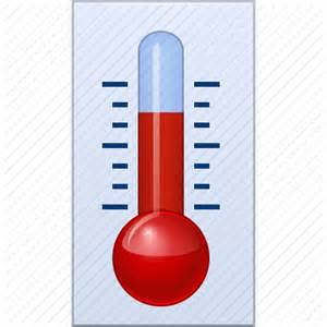 what does a thermometer icon in the weather channel climate equipment measurement meteorology temperature