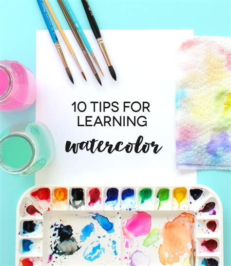10 tips for learning watercolor lines across